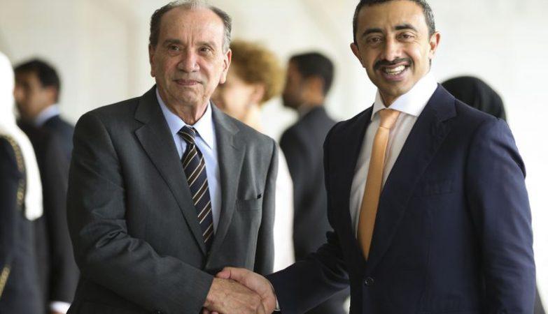 O ministro das Relações Exteriores, Aloysio Nunes Ferreira, recebe o ministro de Negócios Estrangeiros e da Cooperação Internacional dos Emirados Árabes Unidos, xeque Abdullah Bin Sultan Al Nahyan, no Palácio do Itamaraty