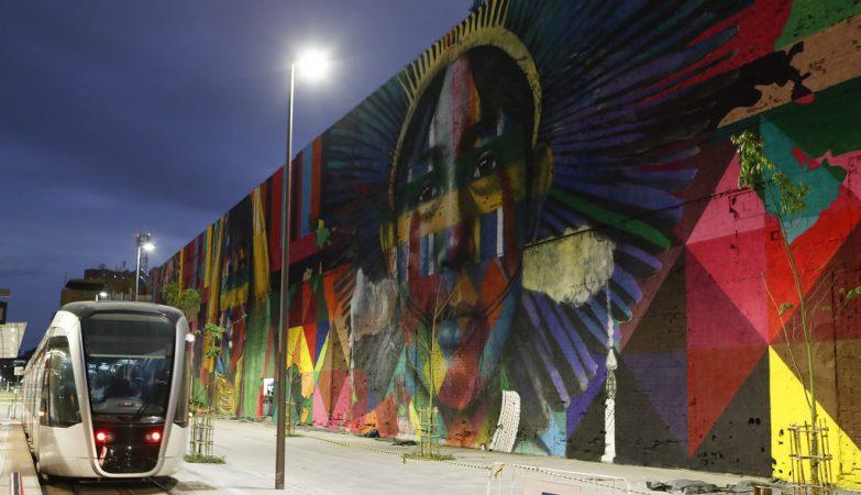 Mural Etnias, no Rio de Janeiro