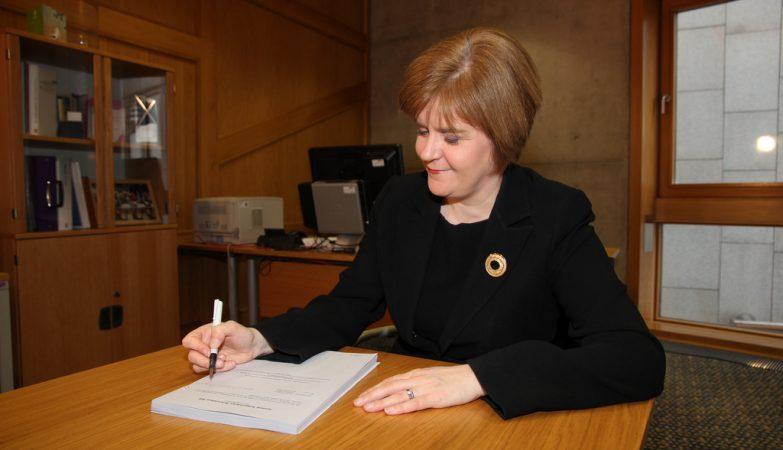 A primeira-ministra escocesa, Nicola Sturgeon