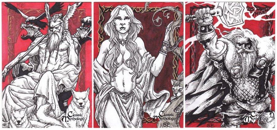 Odin, Freya e Thor, os deuses clássicos da mitologia nórdica