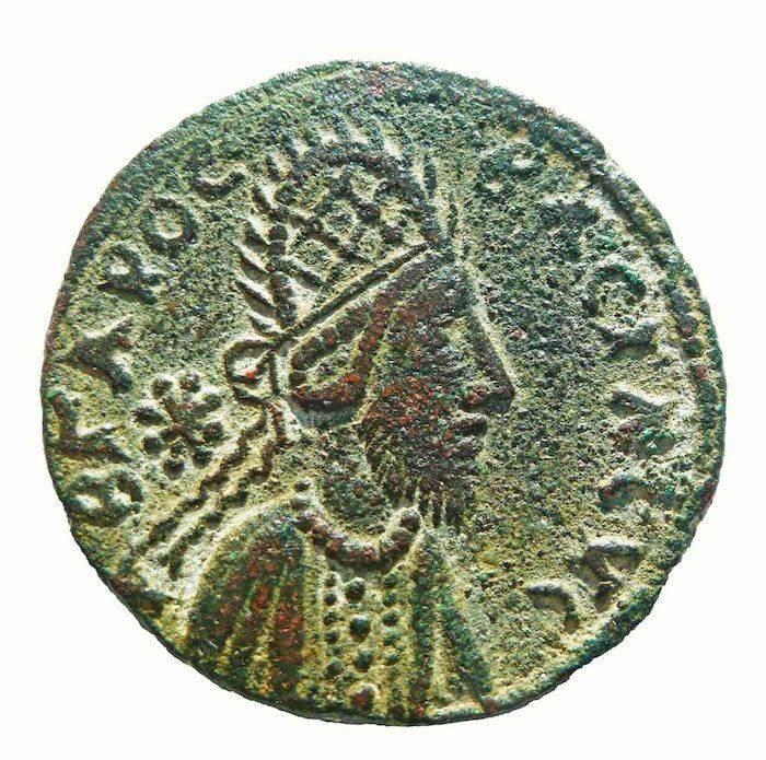 Moeda do século I com o rei Izas Manu que, segundo o historiador Ralph Ellis, é Jesus Cristo