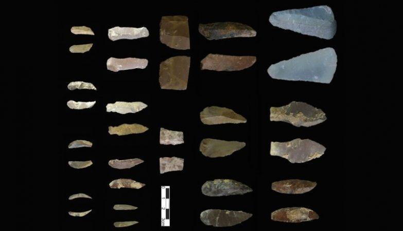 Algumas das ferramentas encontradas na Caverna de Kaldar