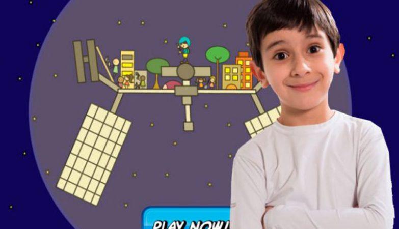 João Paulo escreveu um livro infantil bilíngue (português-inglês) sobre exploração espacial