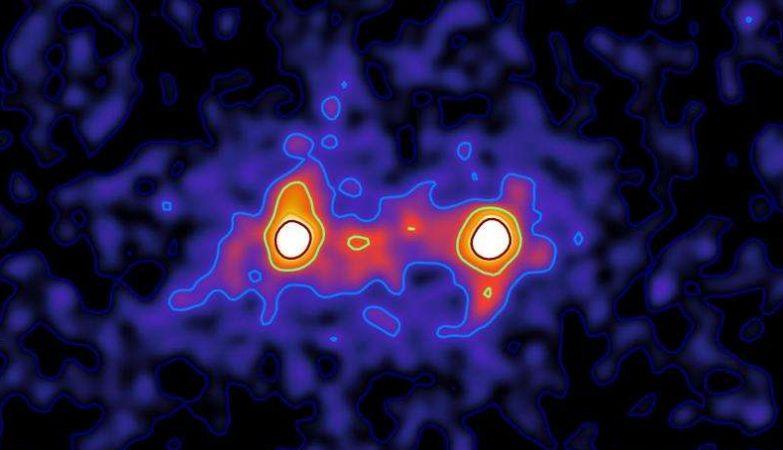 """Primeira """"imagem"""" de galáxias conectadas pela matéria escura"""