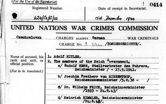 Vários países acusaram Hitler e outros líderes nazistas de crimes de guerra