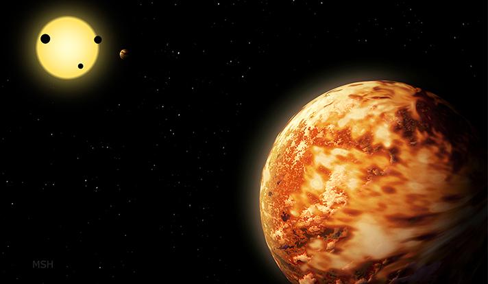Impressão artística do planeta Kepler-150f