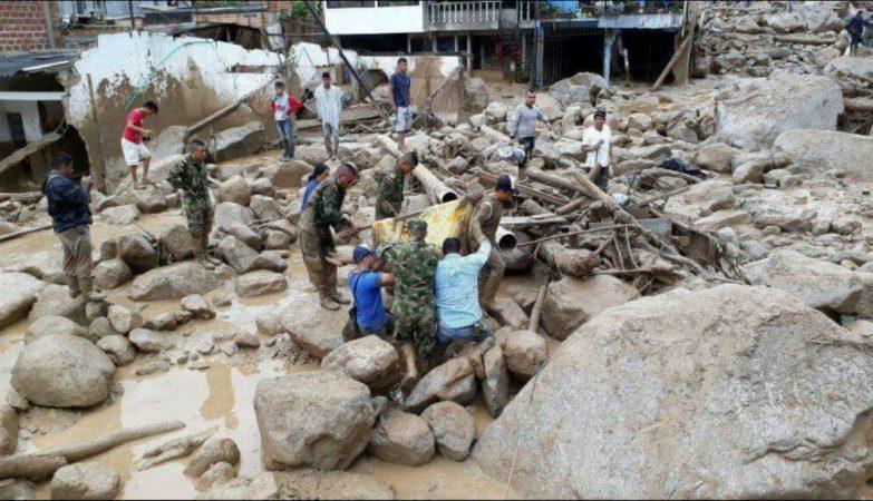 Chuvas deixam mais de 150 mortos no sul da Colômbia