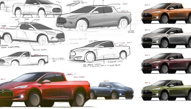 Conceito da futura pickup Tesla pela Electrek