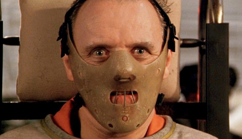 "Sir Anthony Hopkins, ""Hannibal Lector"" em ""The Silence of the Lambs"" (1991)"