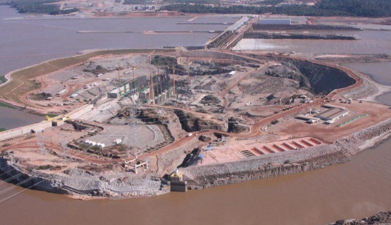 Usina de Santo Antônio, no rio Madeira em Rondônia
