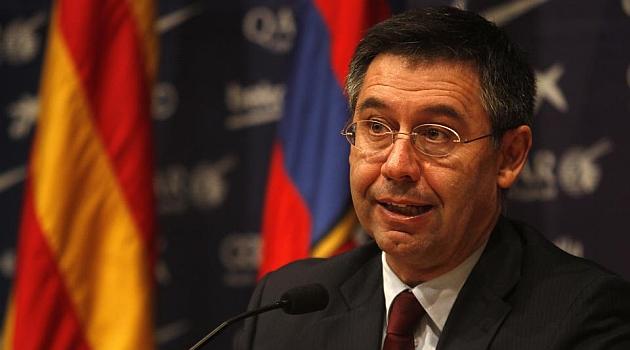 O presidente do Barcelona, Josep Maria Bartomeu