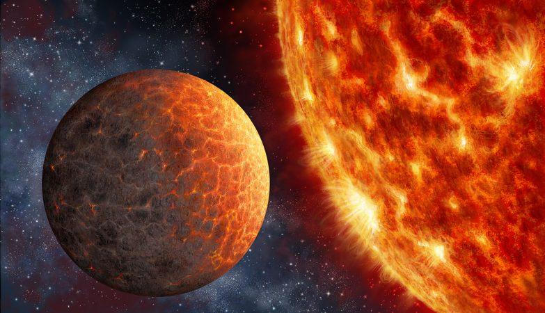 Ilustração de artista da estrela Kepler 1649b