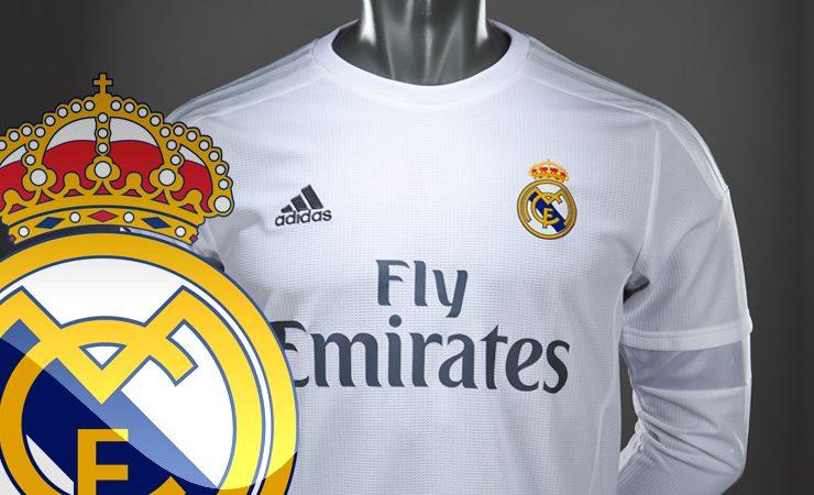 O logotipo da camisa do Real Madrid à venda nos países árabes deixou de ter a cruz cristã no topo