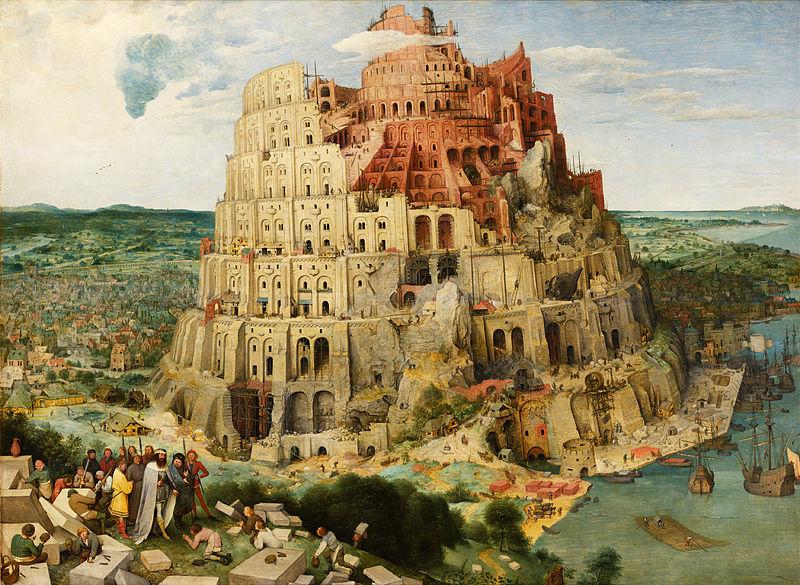 Ilustração da construção da Torre de Babel