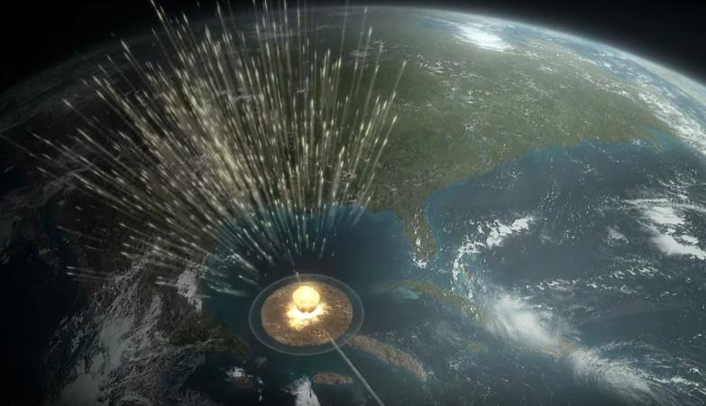 O asteroide que extinguiu os dinossauros atingiu a Terra com um energia equivalente a dez bilhões de bombas de Hiroshima