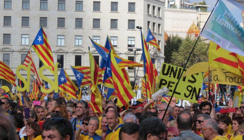 Manifestação pela independência da Catalunha em 19 outubro de 2014