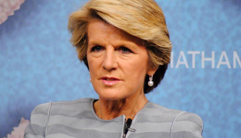 A ministra das Relações Exteriores australiana, Julie Bishop