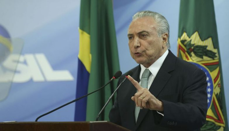 O presidente da República, Michel Temer, faz pronunciamento oficial no Palácio do Planalto