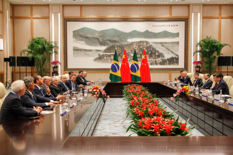 Presidente Michel Temer durante encontro com o presidente da República Popular da China, Xi Jinping