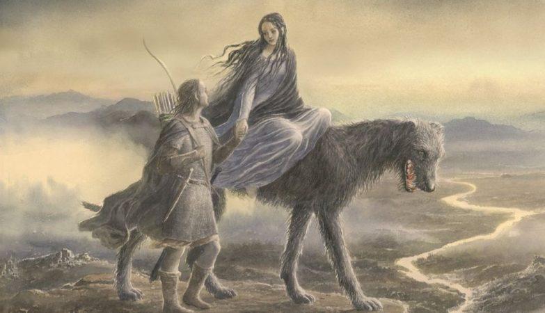 Ilustração de capa do livro Beren e Lúthien, criada por Alan Lee