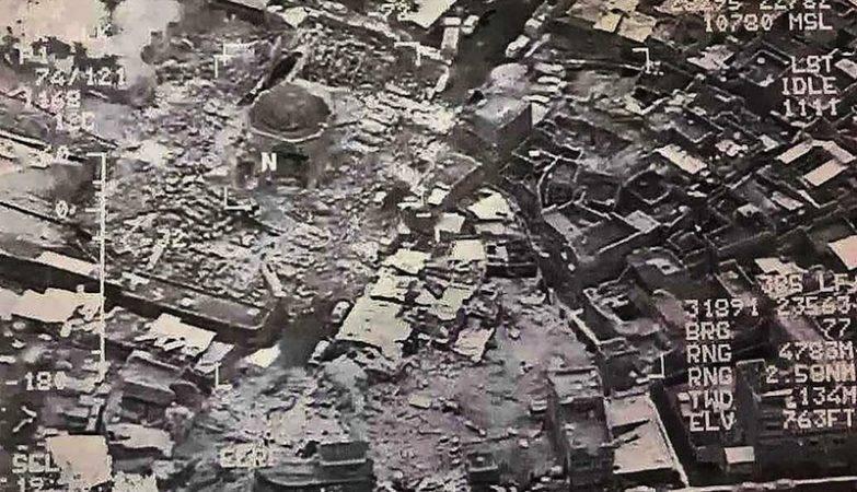 Mesquita de al Nouri em Mossul destruida