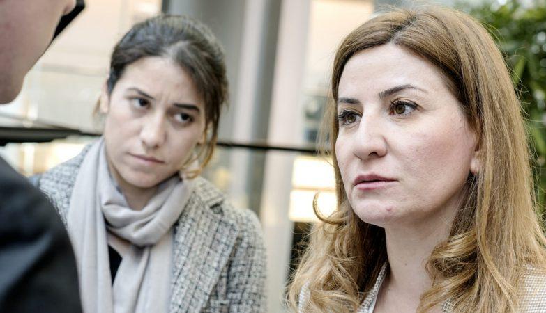 A deputada Vian Dakhil (dir), a única mulher Yazidi que integra o Parlamento do Iraque