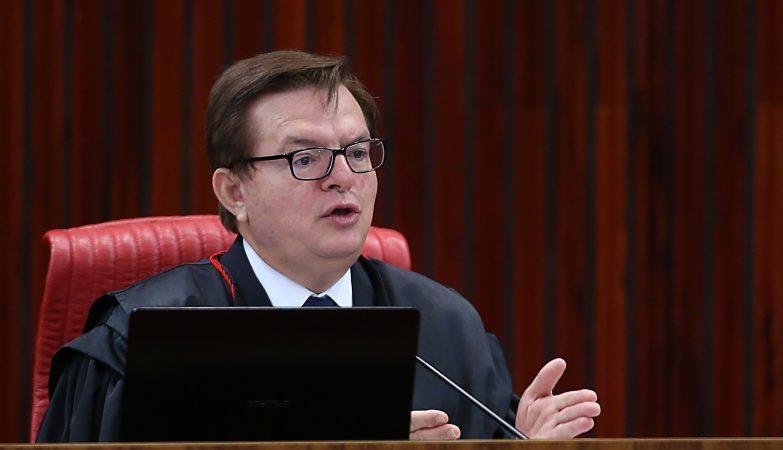O relator da ação, ministro Herman Benjamin, durante julgamento da chapa Dilma-Temer