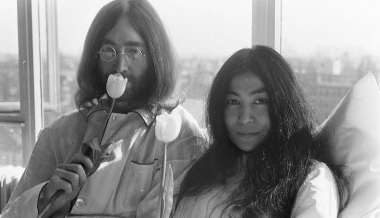 John Lennon e Yoko Ono em 1969