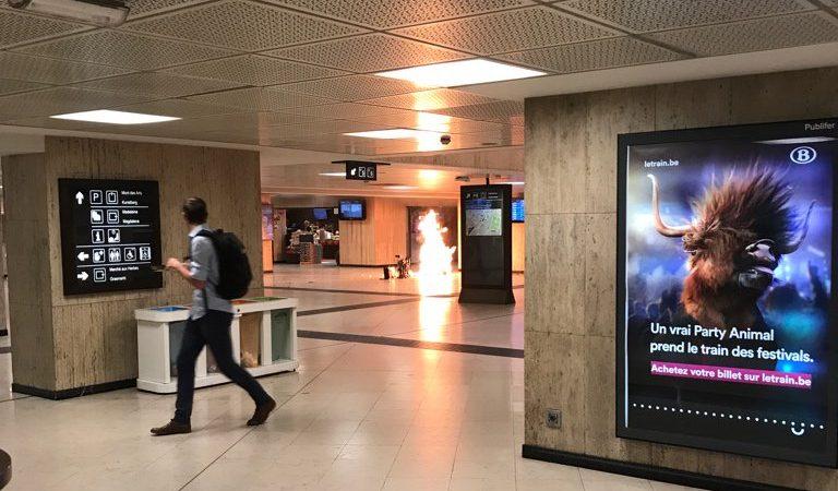 Explosão na Gare Central em Bruxelas