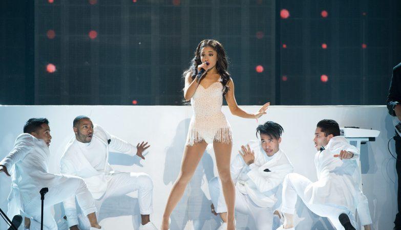 A cantora Ariana Grande
