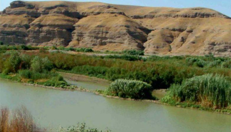 Rio Grande Zab, em cujas margens foi encontrada a cidade antiga de Xarab-I Kilashin, no Curdistão iraquiano