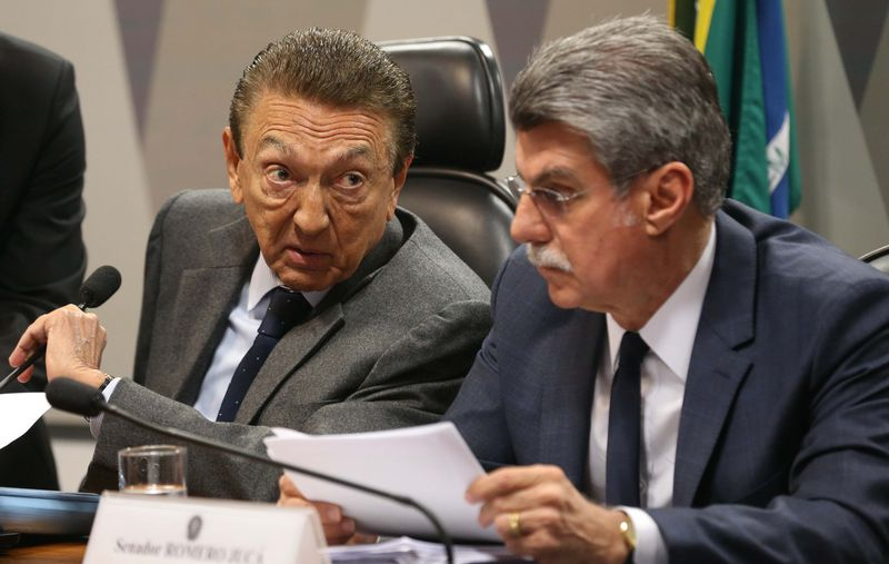 O presidente da CCJ Edison Lobão e relator Remero Jucá