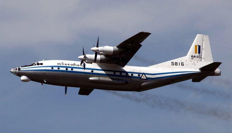 Avião Shaanxi Y-8 da Força Aérea de Myanmar