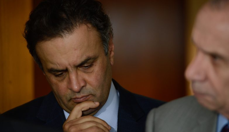O senador afastado Aécio Neves