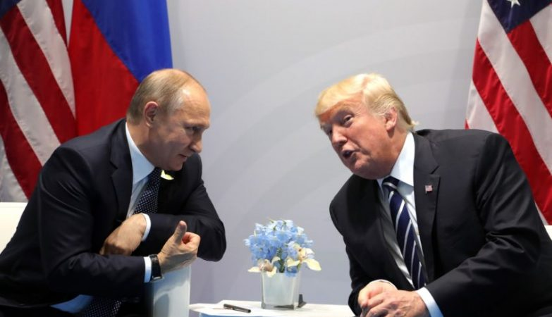 G20 Encontro de Vladimir Putin  com o presidente dos EUA, Donald Trump